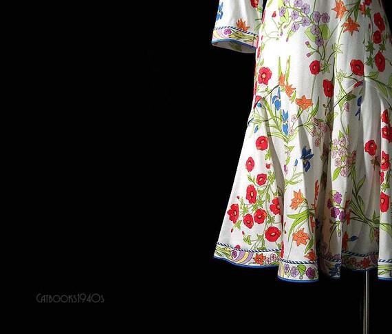 RESERVED - Vintage Averardo Bessi Dress - Summer Floral Designer Dress Signed M