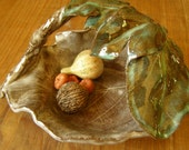 Warm Mulberry Leaves Basket/ Bowl