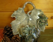 Colors of the Seasons - Grape Leaves Wall Hanging Candle Sconce