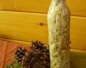 The Woods Are Just a Little Chilly Tonight - A Lightly Frosted Wood Tone Bottle Creation by Jarita