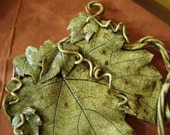 The Fascination of Grape Leaves - An OOAK Wall Hanging Creation by Jarita