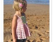 CROCHET PATTERN Vintage Rose Top Crochet Pattern in PDF for Sizes 2-12 Instant Download