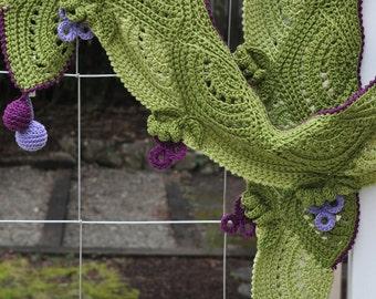CROCHET PATTERN Fruity Fun Grape Scarf Crochet Pattern in PDF