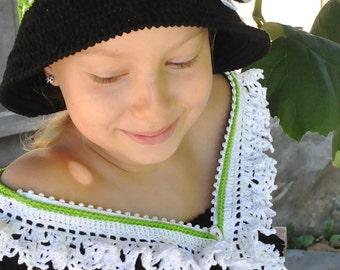 CROCHET PATTERN Faerie Dreams. Zippered Scarf Crochet Pattern in PDF Instant Download