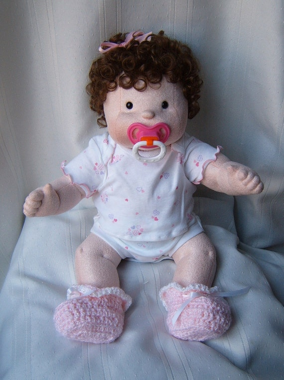Molly  --  A Precious Soft Sculpture Baby Doll w/2 Outfits