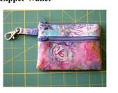 Printed Pattern and Hardware Kit Zipper Wallet Change Purse Gadget Case