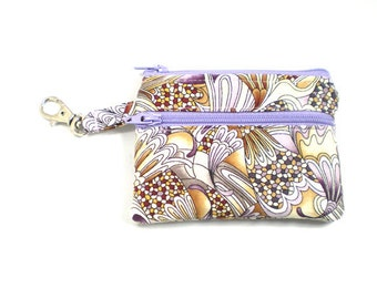 Small Zippered Wallet Change Purse Gadget Case Mosaic Mystery