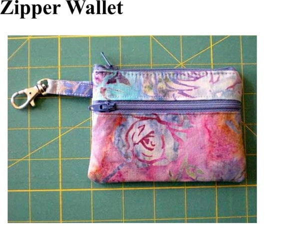 Instant Download PDF Pattern Zipper Wallet Change Purse Gadget Case