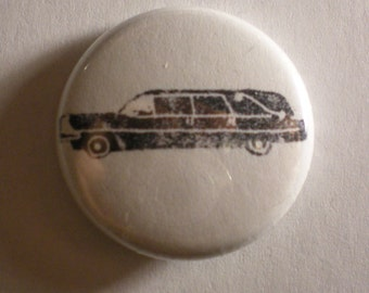 Hearse One Inch Pin Back Button