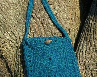 Teal Purse Crochet Granny Square