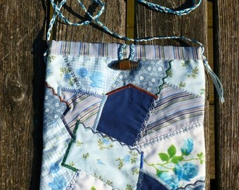 Blue Country Purse Patchwork