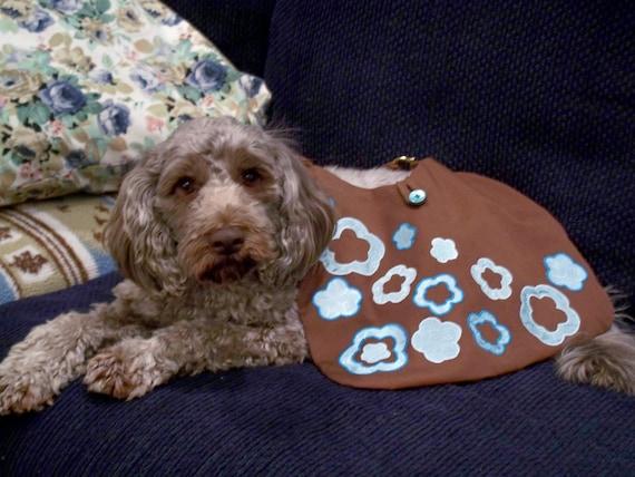 Brown Teal Purse Fabric Applique