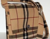 Plaid Messenger/Shoulder Bag