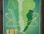 Eat Local Greens - poster art