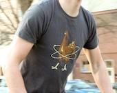 "Men's ""Atomic Chicken"" organic cotton short sleeve T-shirt"