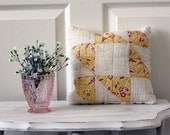 Recycled Quilt Pillow with Chenille
