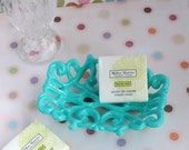 Turquoise Blue Cast Iron Soap Dish