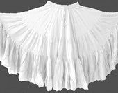 Glorious White Cotton 25yd Skirt