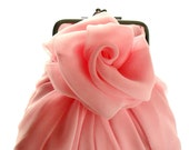 Baby Pink Rose Purse Size Small - Made To Order - LAST ONE