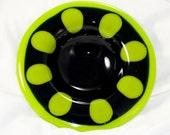 Green & Black Retro Dish