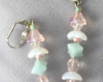 Pastel Flower Drop Earrings