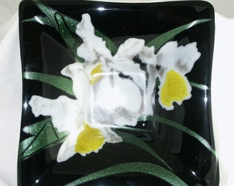 Orchid Square Bowl