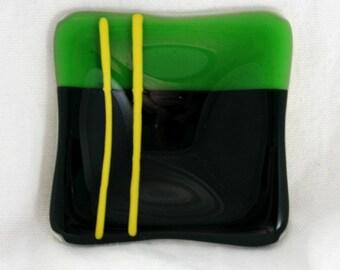 Black and Green Sushi Dish