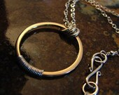 Golden Circle w/sterling silver wrap
