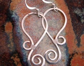 Silver Swirl - Hammered Sterling silver earrings
