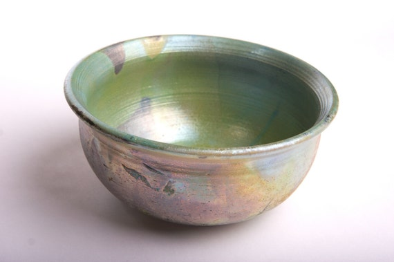 Metallic Raku Bowl Wheel-thrown Pottery