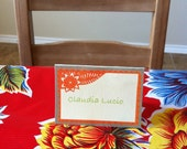 Mexican Flower wedding place cards or food tents  - DIY printable - Papel Picado - Non-Personalized