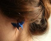 SALE Origami Butterfly Earrings- Silk Origami Earrings