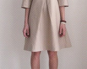 Vain and Vapid Spring 2011 - Silas Dress in Beige Silk size small