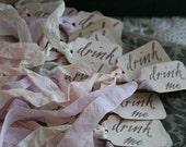 FAVOR TAG - drink me - Alice in Wonderland - Set of 24 - choose ribbon color