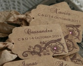 PLACECARD - ESCORT CARD - Weddings, Events - Vintage French, Rustic, Wonderland, Lovebird Styles