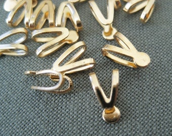 gold plated glue on bail, lead safe 25pcs