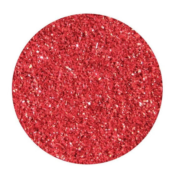 ruby red premium imported german glass glitter, 1 ounce