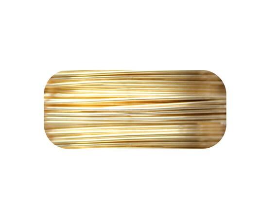 24ga non-tarnish brass artistic wire 60ft spool