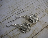 Simply Silver - Small Double Hammered Circle Earrings
