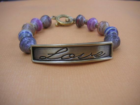 Uganda Bead Love Bracelet