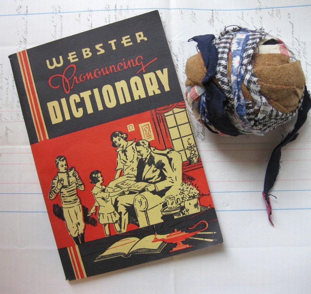 Paginas Websters red vintage