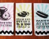 Diner Speak Tea Towel Trio
