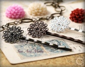 10 pcs Vintage Style 17mm Filigree Hairpins - Mix and Match Hair Pins, Bobbypins, Bobby Pins, Bobbipins - 17HPS