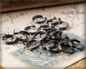 100 8mm SILVER Plated Split Rings - 8GS