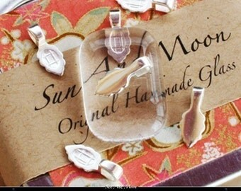 100 Aanraku Bails - Small Silver Plated Aanraku Jewelry Bails