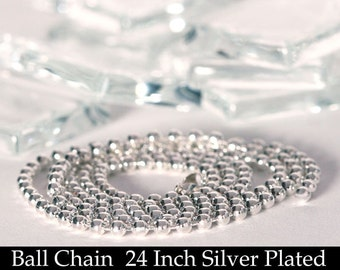 200 economical Silver Plated Ball Chain Necklaces 24 Inch