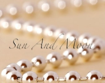 40 Big Ball Chain Necklaces - 2.4mm Shiny Silver Ball Chain Necklaces