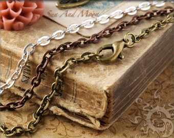 40 Vintage Style Necklaces - Handmade Chain - Mix and Match - VN