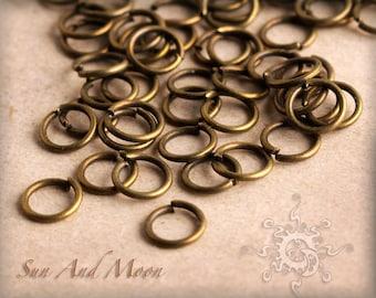100 pcs of Antiqued Bronze Jumprings - 4mm Vintage Bronze Jump Rings