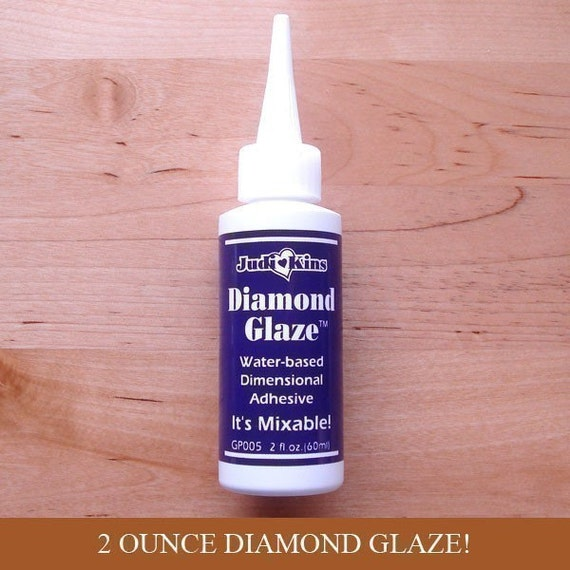 Diamond Glaze - 2 Ounce Bottle - Judi Kins - Charms - Scrabble Tile Pendants -  Glass Tiles - Magnet Adhesive Resin